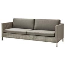 Connect 3-seater sofa Taupe - Taupe cushions