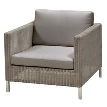 Connect lounge chair Taupe - Taupe cushions