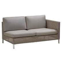Connect 2 Seat Left Module - Taupe Cushions