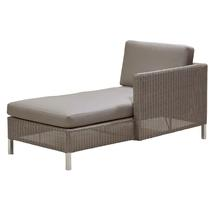 Connect Chaise Lounge Left Module - Taupe Cushions