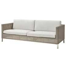 Connect 3-seater sofa Taupe - White cushions