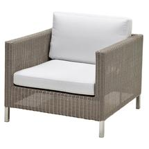 Connect lounge chair Taupe - White cushions