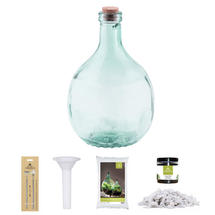 Complete Bottle Terrarium 5L set - White Gravel