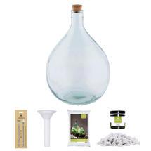 Complete Bottle Terrarium 15L set - White Gravel
