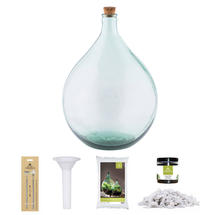 Complete Bottle Terrarium 35L set - White Gravel
