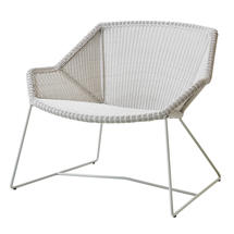 Breeze Lounge Chair - White Grey