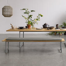 Seat Cushion for Atmosphere 213cm Dining Bench - Fife Rainy Grey