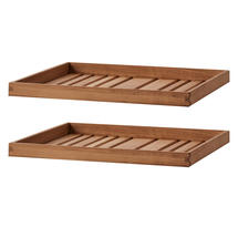 Level coffee table small table top set (2 pcs.) - Teak