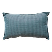 Link scatter cushion, 32x52x12 cm - Turquoise
