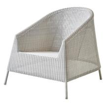 Kingston lounge chair, stackable - White grey