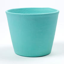 Painted Plant Pot Turquoise
