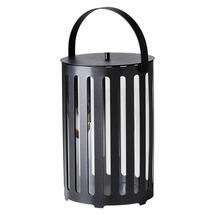 Lighttube lantern large, round - Lava grey