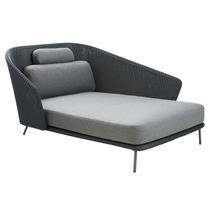 Mega Lounge Daybed Left with Grey Cushions