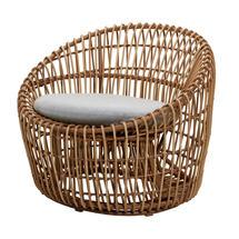 Nest Outdoor Round Chair - Light Grey Cushion