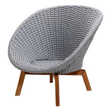 Peacock Rope Lounge Chair - Light Grey