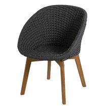 Peacock Rope Dining Chair - Dark Grey