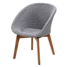 Peacock Rope Dining Chair - Light Grey