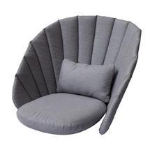 Peacock lounge chair cushion set - Grey