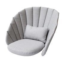 Peacock lounge chair cushion set - Light grey