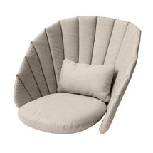 Peacock lounge chair cushion set - Taupe