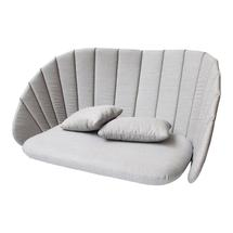 Peacock 2-seater sofa cushion set - Light grey