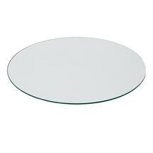Peacock footstool table top - clear