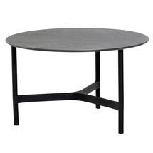 Twist Coffee Round Ceramic Table Top - 70cm - Black