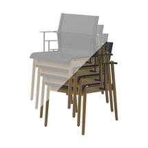 Protective Cover for Sway Teak Stacking Chair with Arms (Stack of 4 Chairs)