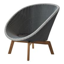 Peacock Lounge Chair - Grey / Light Grey