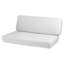 Savannah 2-seater sofa right module cushion set - White