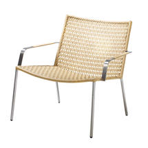 Straw Indoor Lounge Chair Flat Weave - Natural