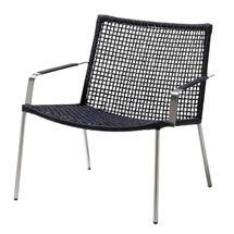 Straw Indoor Lounge Chair Round Weave - Black