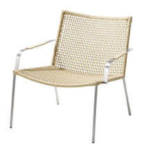 Straw Indoor Lounge Chair Round Weave - Natural