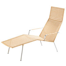 Straw Indoor Chaise Lounge - Natural
