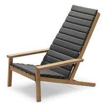 Between Lines Deckchair Cushion -  Charcoal