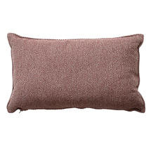 Wove Rectangular Scatter Cushion - 32x52cm - Light Bordeaux