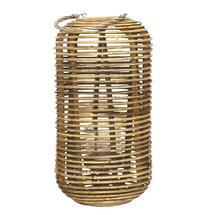 Tall Rattan Lantern with handle - Natural