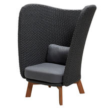 Peacock Wing Highback Chair - Dark Grey