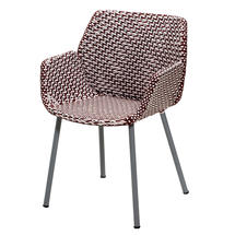 Vibe Armchair - Light Grey / Bordeaux / Dusty Rose