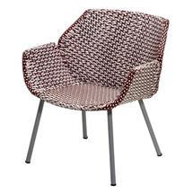 Vibe Lounge Chair - Light Grey / Bordeaux / Dusty Rose