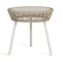 Loop Rope Side Table - Beige/Stone White