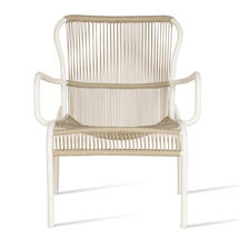 Loop Rope Lounge Chair - Beige/Stone White