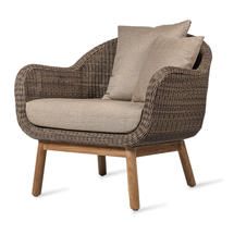 Anton Outdoor Lounge Chair - Taupe