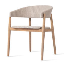 Mona Teak Dining Chair - Old lace