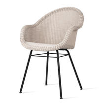 Edgard Dining Chair with Steel Legs - Old Lace