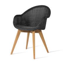 Edgard Dining Chair with Teak Legs - Black