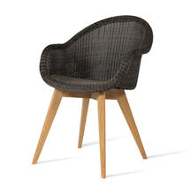 Edgard Dining Chair with Teak Legs - Mocca