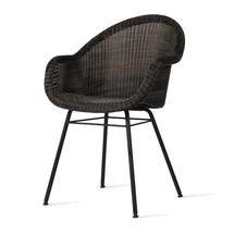 Edgard Dining Chair with Steel Legs - Mocca