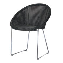 Gipsy Steel Framed Dining Chair - Black