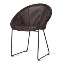 Gipsy Black Framed Dining Chair  - Mocca